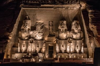 Show de Luzes em Abu Simbel, Egito