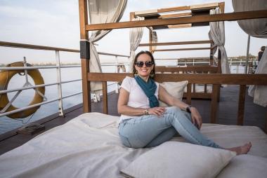 Convés do navio Alyssa, Cruzeiro no Rio Nilo