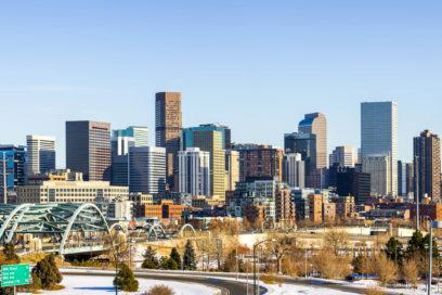 Neve na estrada rumo a Denver