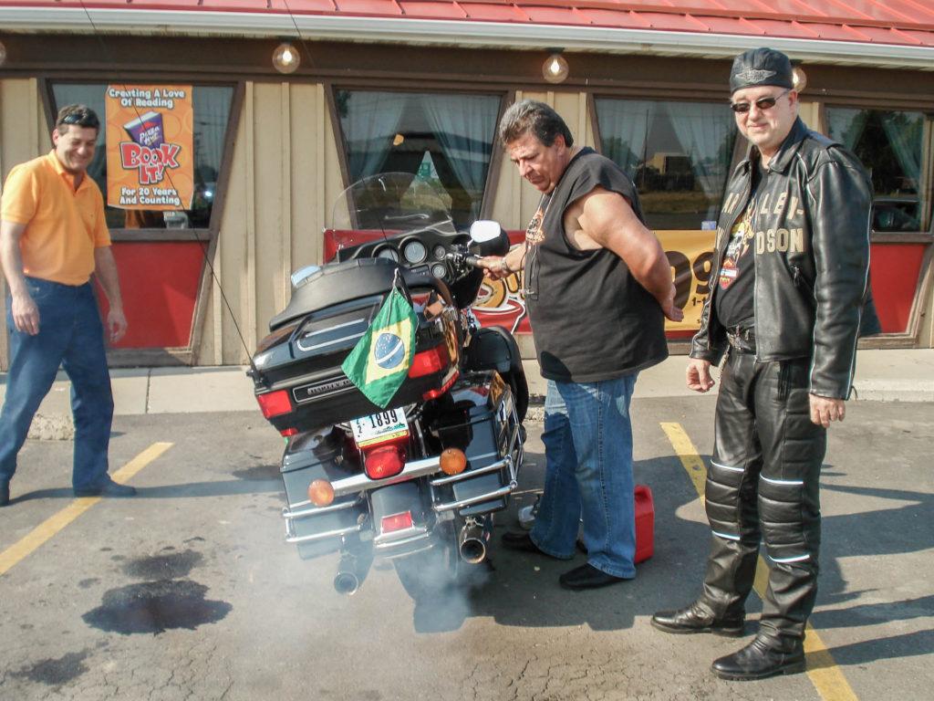 Diesel na mootocicleta