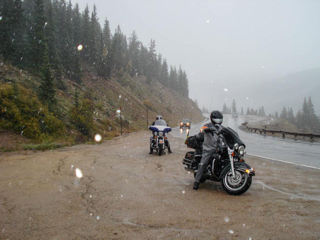 Neve na estrada para Denver