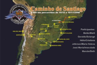 A Partida de Campinas rumo a Santiago do Chile
