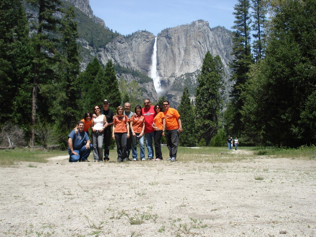 Grupo no Yosemite National Park