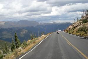 Cruzando o Rocky Mountain National Park