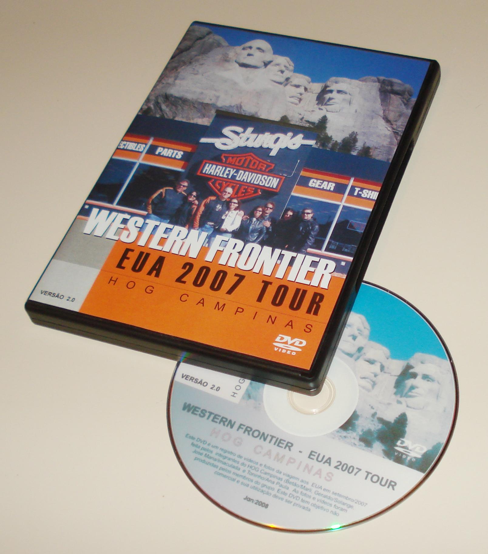 EUA Western Frontier Journey: DVD da viagem