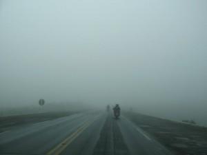Forte neblina a caminho Santo Tomé (Argentina)