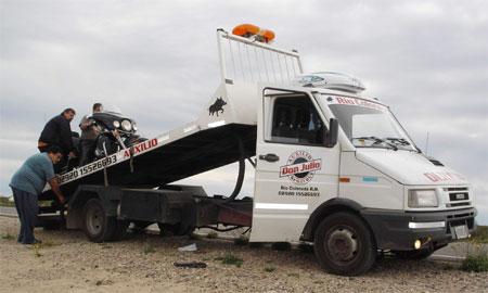 Patagônia 2009: O pneu furado em RioColorado
