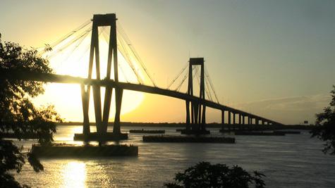 Por do sol em Corrientes