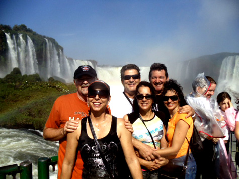 Galera nas Cataratas do Iguaçu