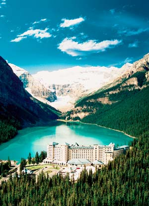 Lake Louise com o Hotel Fairmont Chateau Lake Louise