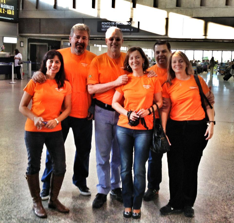 Marli, Betão, José Maria, Imaculada Tobias e Tânia em Guarulhos