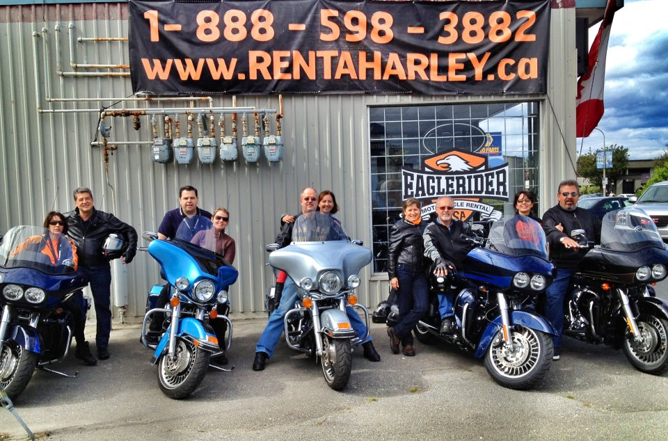 Pegando as Harleys em Vancouver, na Eaglerider