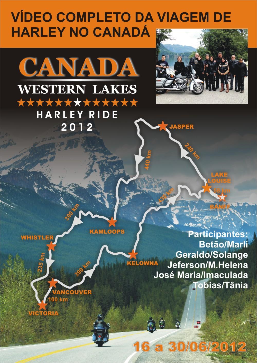 Viagem de Harley no Canada 2012