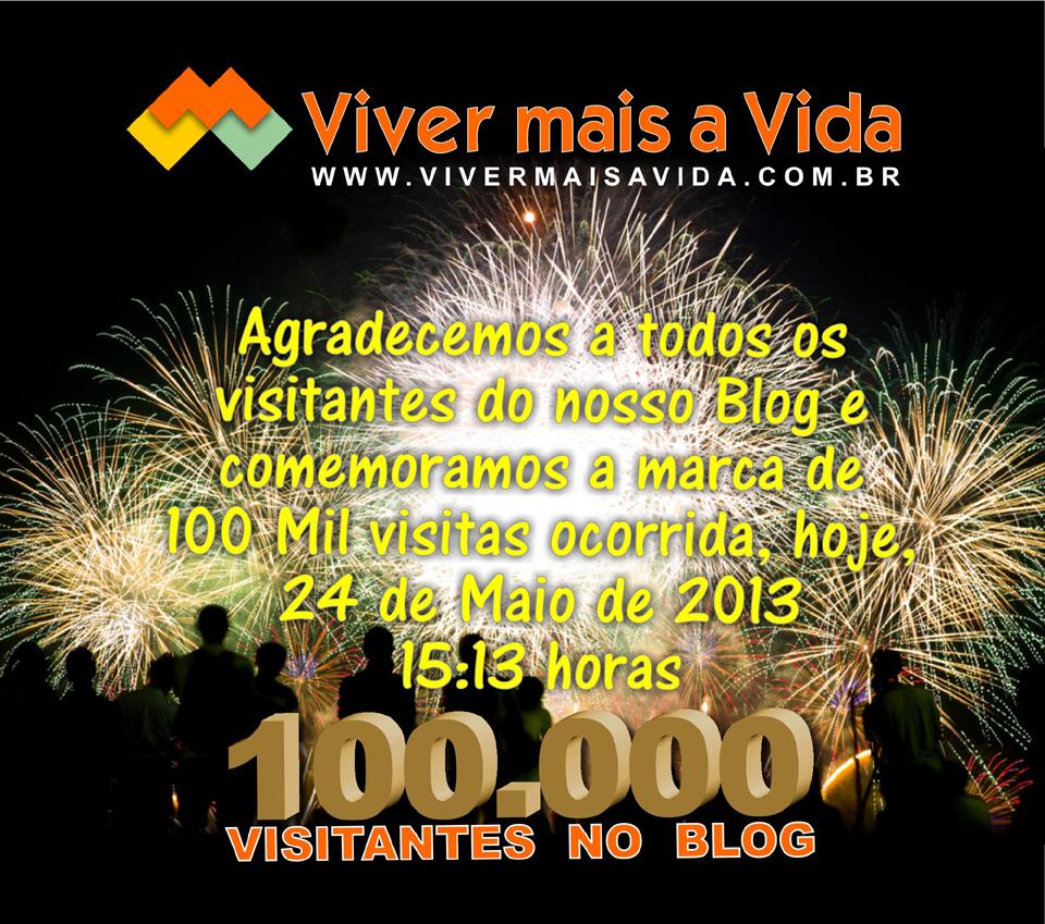 Viver Mais a Vida - 100.000 Visitantes