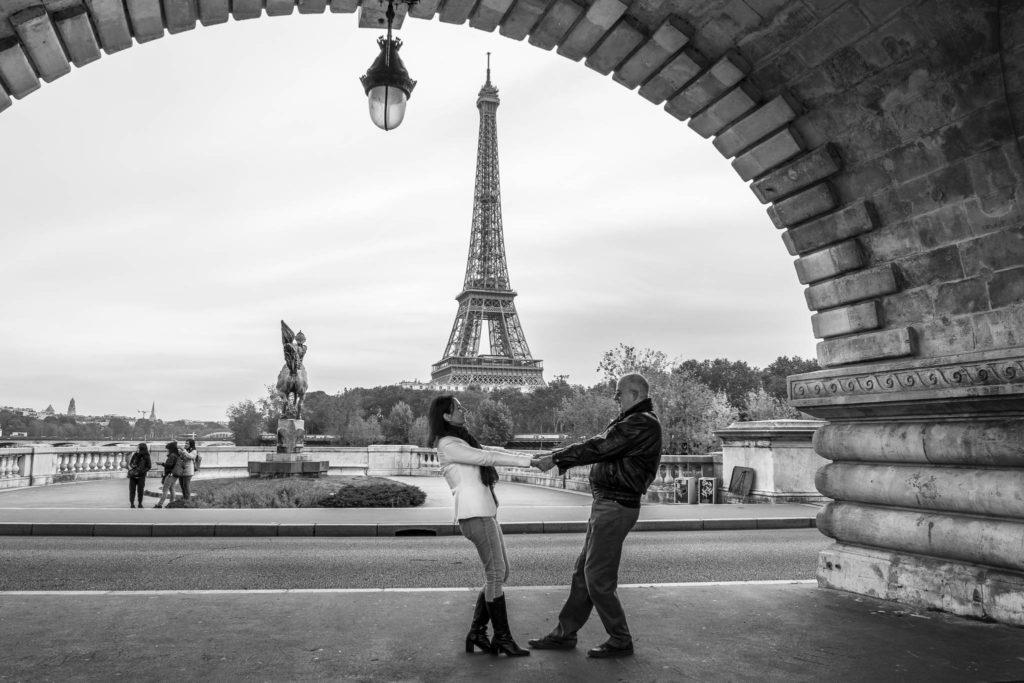 Torre Eiffel vista da Ponte Bir-Hakeim