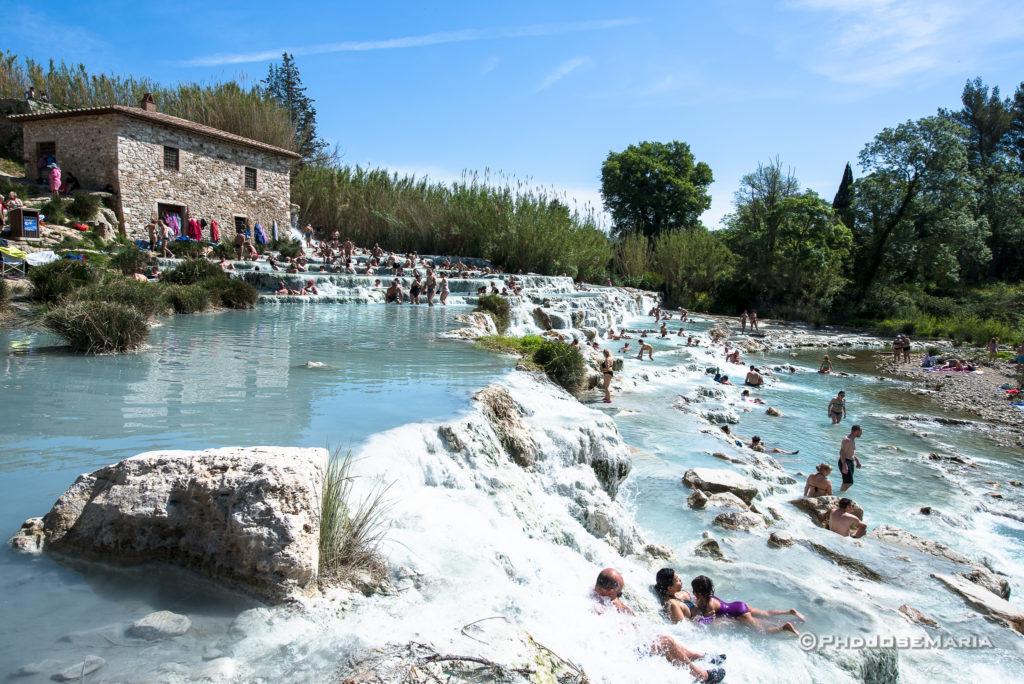 Águas termais de Saturnia na Toscana