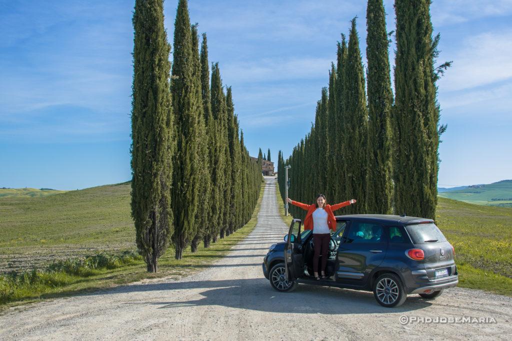 Os campos e a beleza da Toscana