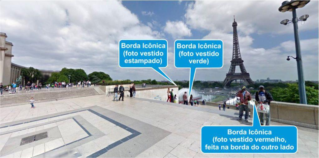 Bordas icônicas para fotografia no Trocadero