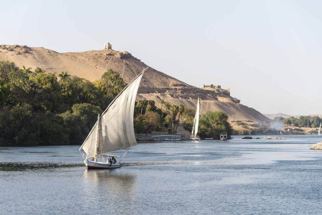 Felucca no Rio Nilo