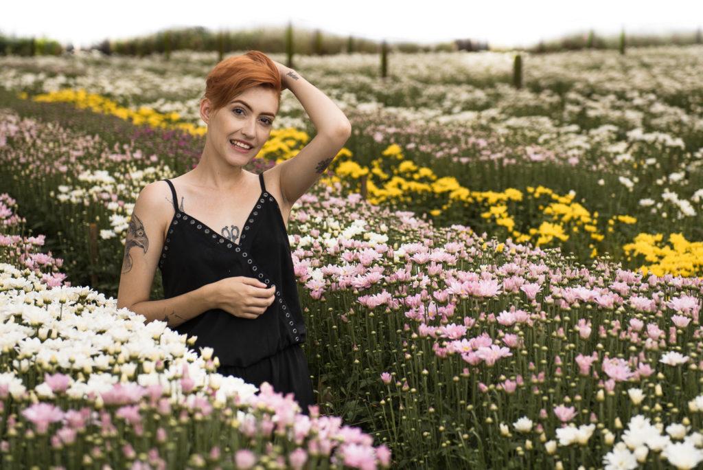 Estufa com flores em Holambra